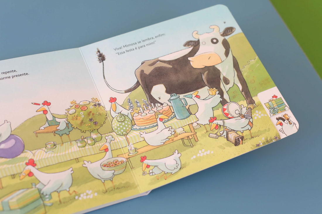 foto do livro O Aniversário da vaca Mimosa
