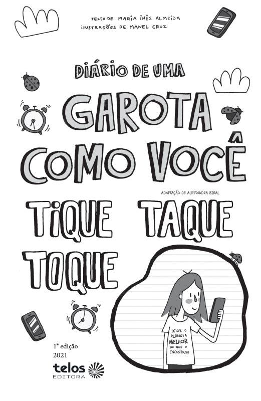 Diário de uma garota como você Tique taque toque - pág. 3